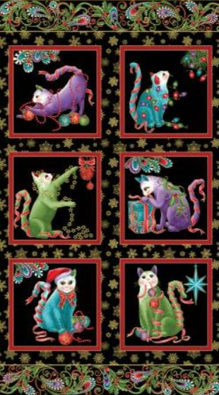 Panel Cat -I - Tude Christmas 6741-12