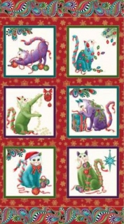 Panel Cat - I - Tude Christmas 6741-10